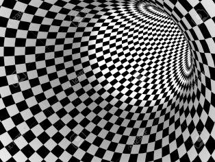 Black And White Checker Texture Background. 3d Render Illustration